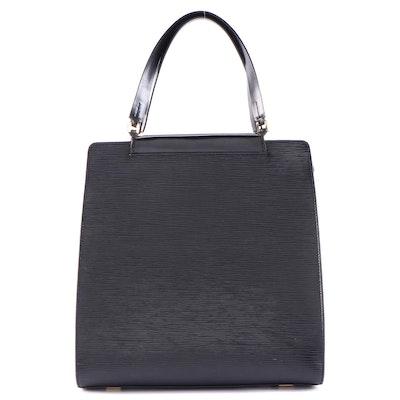 Louis Vuitton Figari Handbag in Black Epi Leather