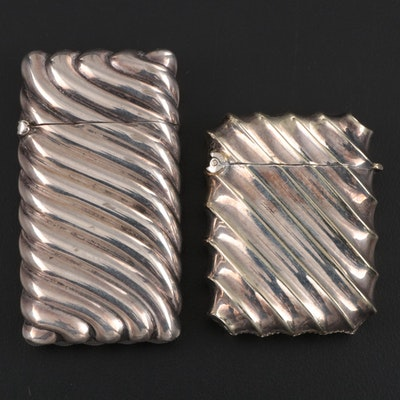 Sterling Silver and Silver Plate Vesta Cases