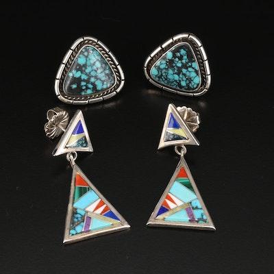 Southwestern Style Sterling Earring Selection Featuring Zora Joe Navajo Diné