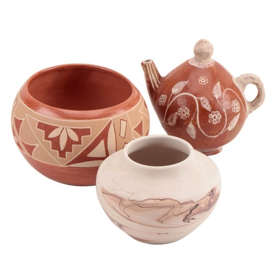 Nemadji and Other Native American Pottery Vases and Décor
