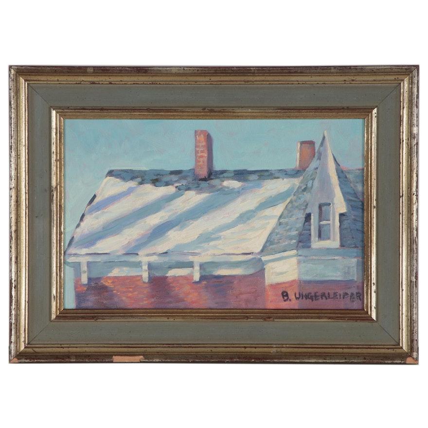 Bernard Ungerleider Oil Painting, Late 20th Century