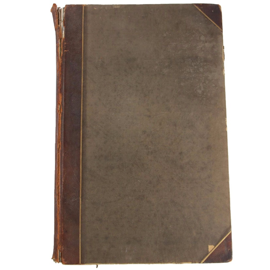 """1899 """"The Book of the Dead: Facsimiles of the Papyri of Hunefer, and Others"""""""