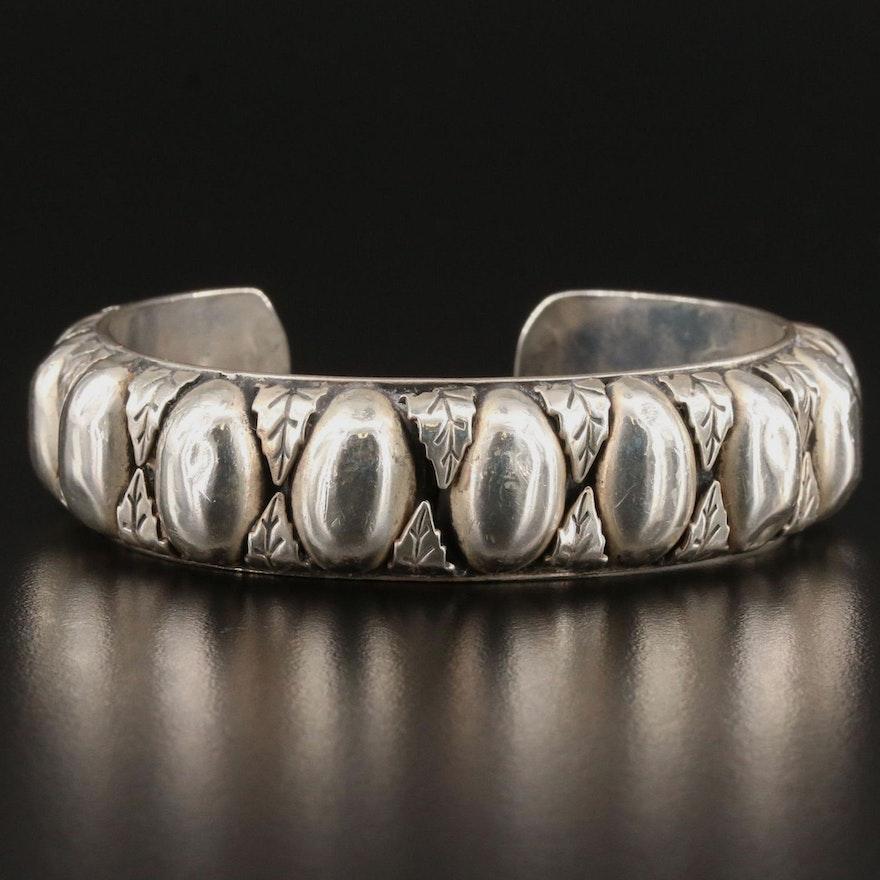 Vintage Southwestern Style Sterling Silver Cuff Bracelet