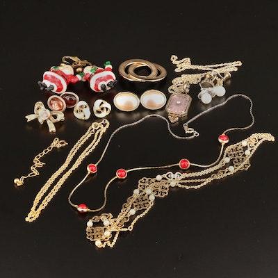 Vintage Costume Jewelry Featuring Avon Pendant