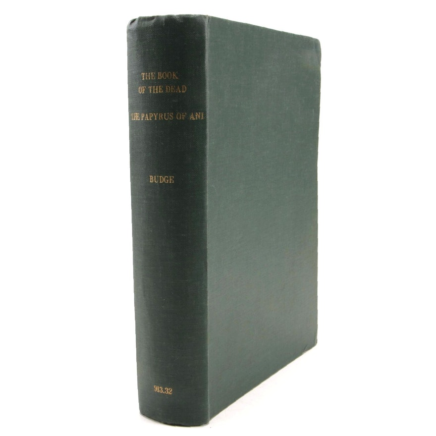 """1895 First Edition """"The Book of the Dead: The Papyrus of Ani"""" by E.A. Wallis"""