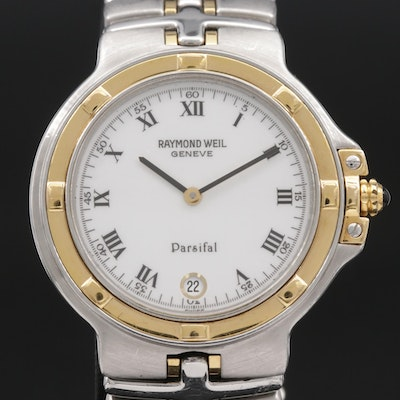 Raymond Weil Parsifal Two Tone 18K Gold and Stainless Steel Quartz Wristwatch