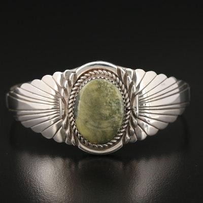 Michael Spencer Navajo Diné Sterling Silver Turquoise Cuff Bracelet