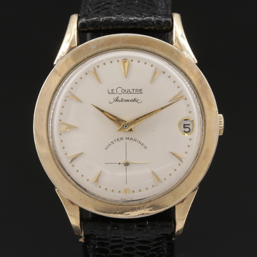 LeCoultre Master Mariner 10K Gold Filled Automatic Wristwatch