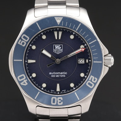 TAG Heuer Stainless Steel 300 Meter Automatic Wristwatch