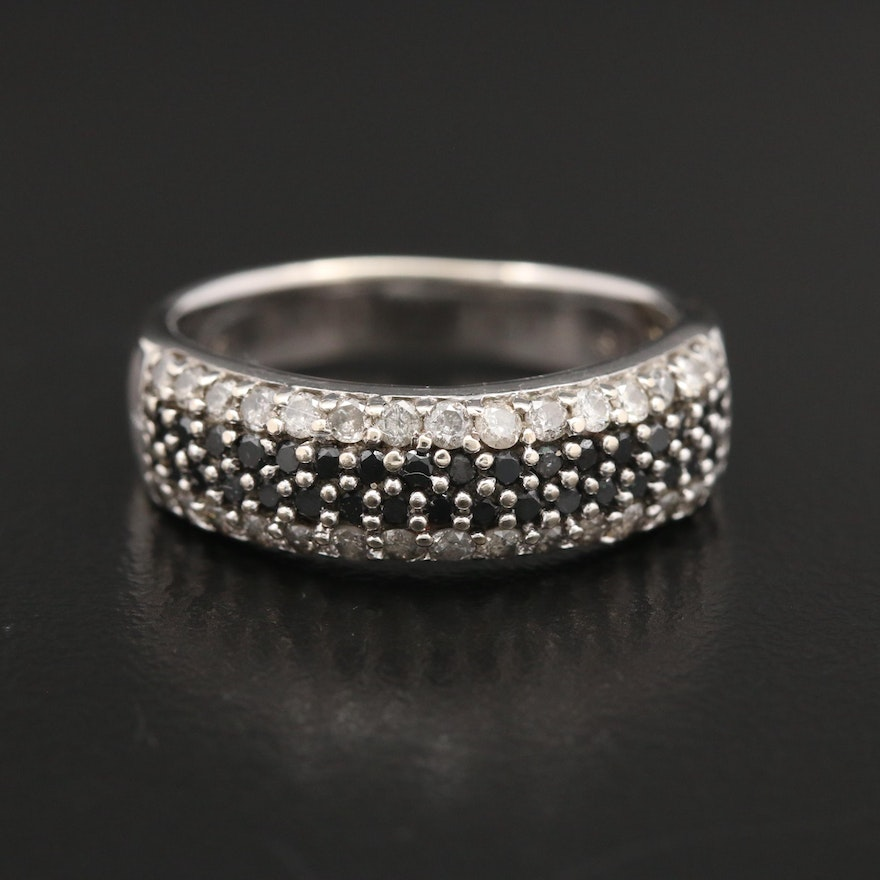 14K White Gold 1.00 CTW Diamond Band
