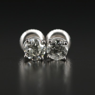 14K Gold 1.15 CTW Diamond Stud Earrings