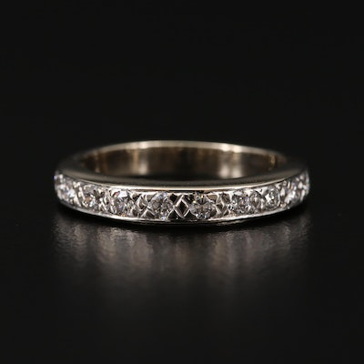 14K White Gold 0.48 CTW Diamond Band
