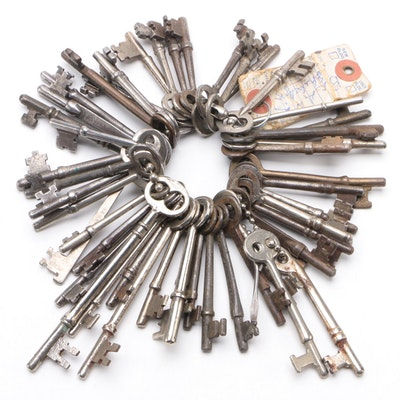 Metal Skeleton Keys, Late 19th to Early 20th Century