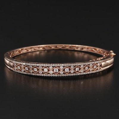 14K Gold 1.13 CTW Diamond Bracelet