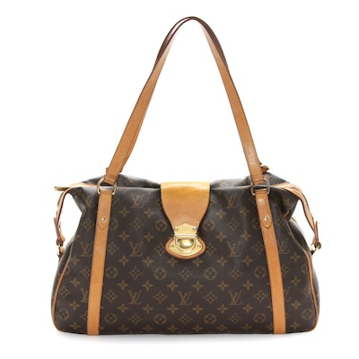 Louis Vuitton Stresa Shoulder Bag in Monogram Canvas and Vachetta Leather