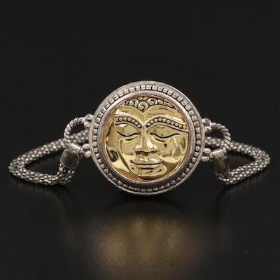 Sterling Silver Buddha Pendant Bracelet