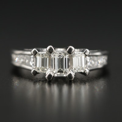 Platinum 1.03 CTW Diamond Ring