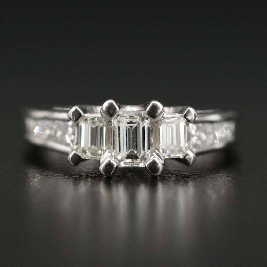 Platinum 1.03 CTW Diamond Ring