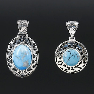 Sterling Silver Turquoise Pendants