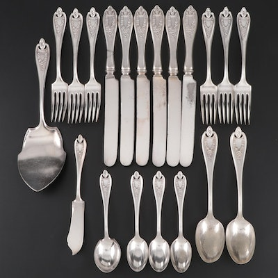 "1847 Rogers Bros. ""Old Colony"" Silver Plate Flatware and Serving Utensils"