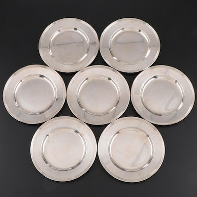 "International ""Lord Saybrook"" Sterling Silver Bread and Butter Plates"