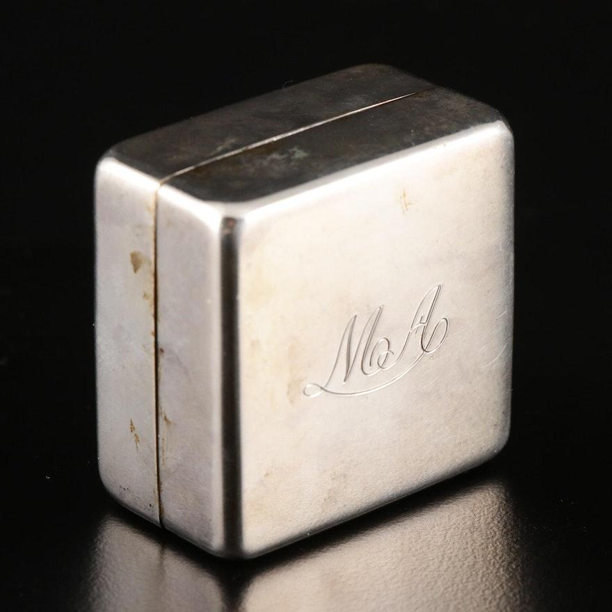 Galbiati Italian 800 Silver Trinket Box, Mid 20th Century