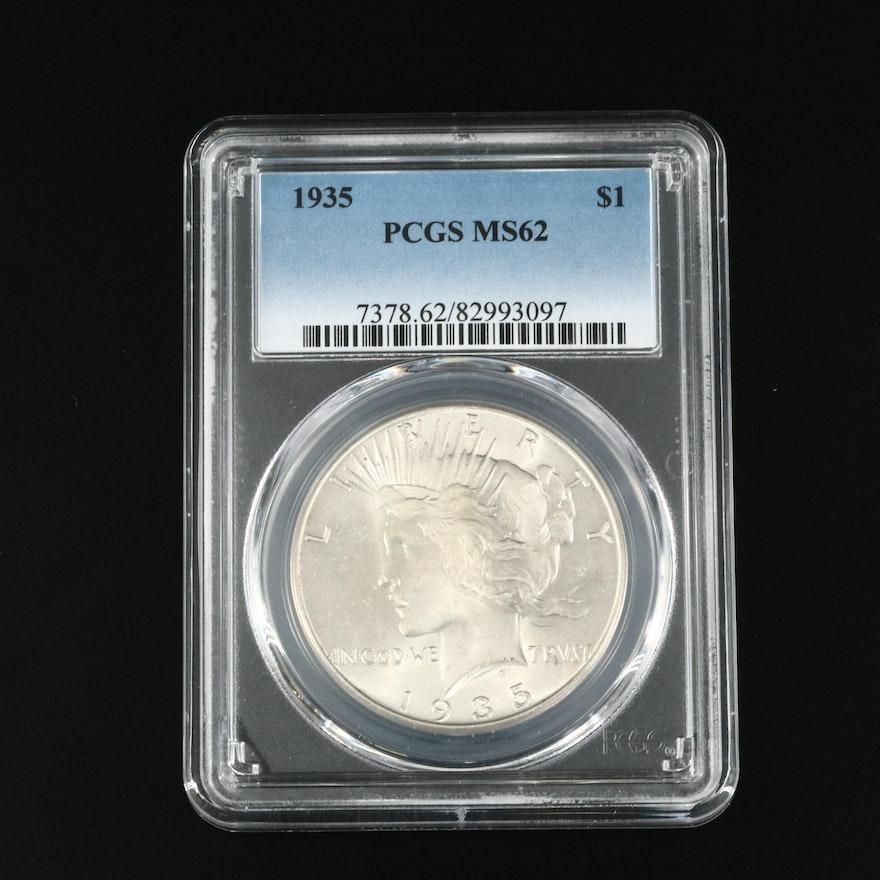PCGS Graded MS62 1935 Peace Silver Dollar