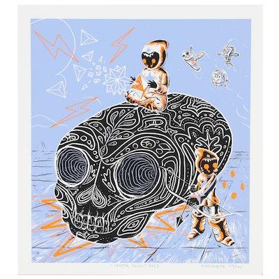 "Mr. Glaubitz Serigraph ""Crystal Skull"", 2012"