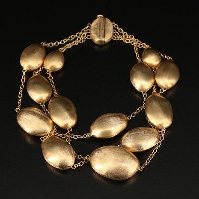 Marco Bicego 18K Yellow Gold Multi-Strand Florentine Bead Bracelet