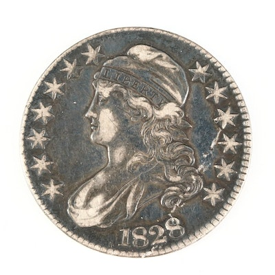 1828 Capped Bust Silver Half Dollar