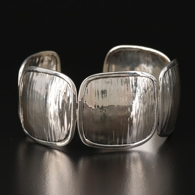 Sterling Silver Panel Cuff