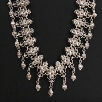 Bali Style 800 Silver Collar Necklace