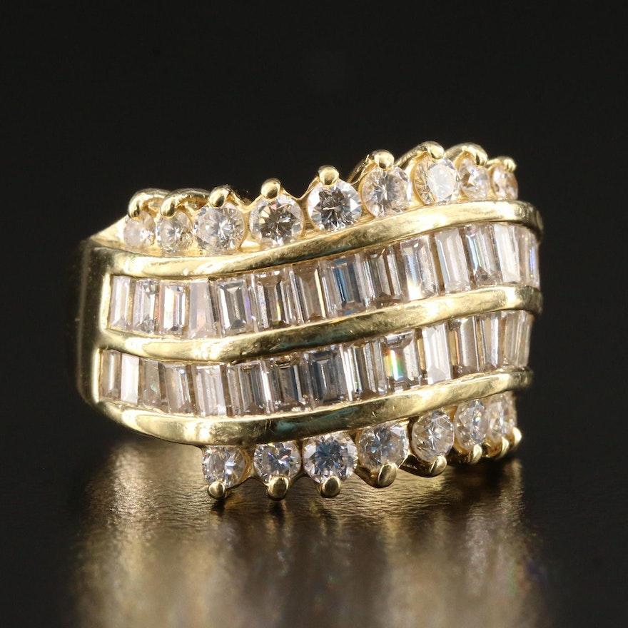 18K Gold 3.00 CTW Diamond Ring