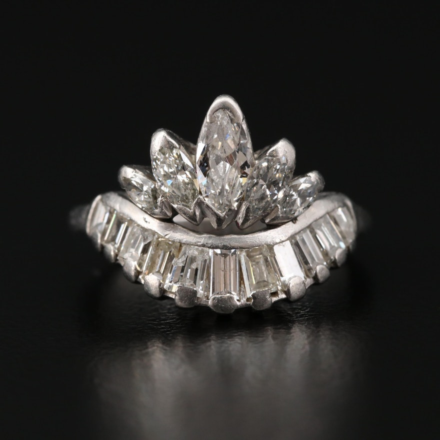 Platinum 1.48 CTW Diamond Ring