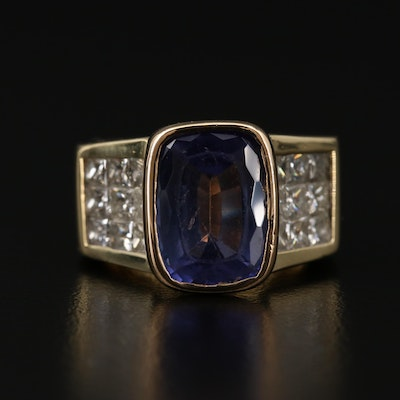 18K Gold 5.16 CT Tanzanite and 2.25 CTW Diamond Ring