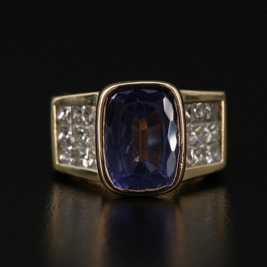 18K Gold 5.16 CT Tanzanite and 2.25 CTW Diamond Ring