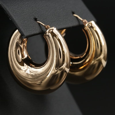 Milor 14K Yellow Gold Hoop Earrings