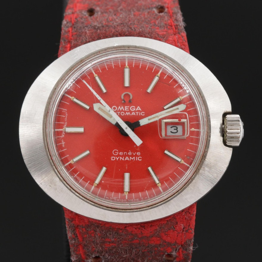 Omega Dynamic with Date Stainless Steel Automatic Wristwatch