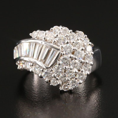 18K White Gold 1.72 CTW Diamond Ring