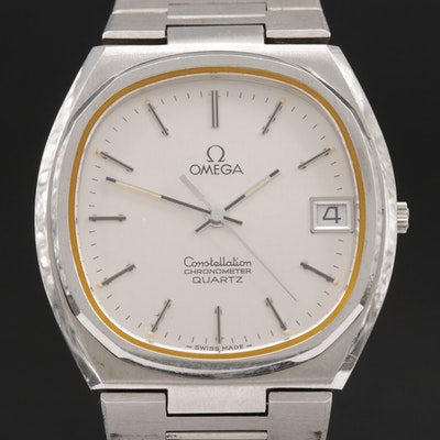 Omega Constellation Stainless Steel Quartz Wristwatch, Vintage