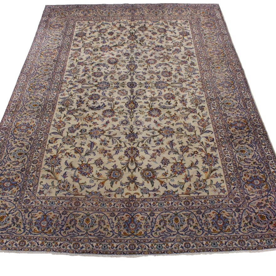 8'1 x 11'9 Hand-Knotted Persian Nain Room Sized Rug