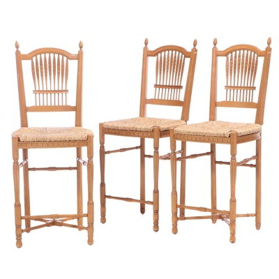 Andre Originals French Provincial Style Beech Barstools