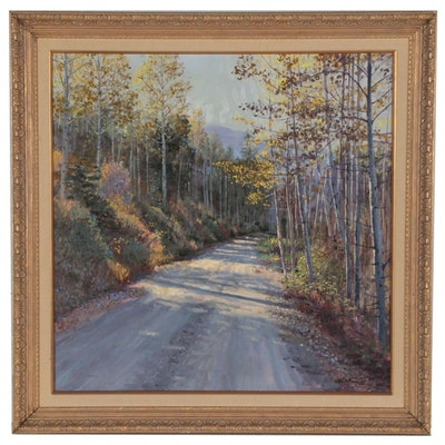 William H. Atkins Impressionist Landscape Oil Painting, 20th Century
