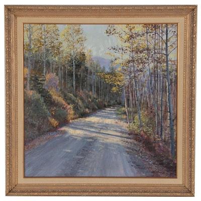 William H. Atkins Impressionist Landscape Oil Painting, 20th Century