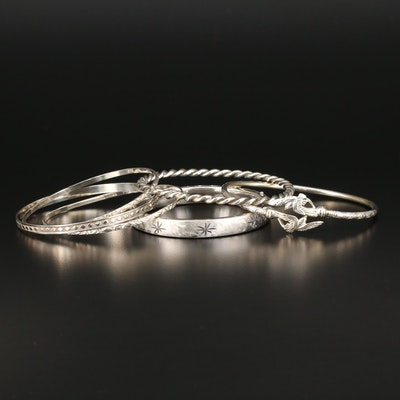 Vintage Sterling Silver Bangles and Cuffs Featuring Beau