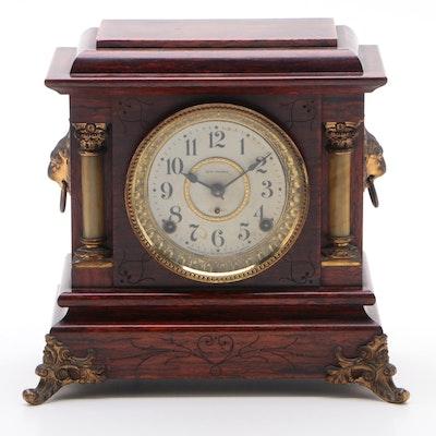 Seth Thomas Neoclassical Adamantine Mantel Clock,  Patent Date 1880