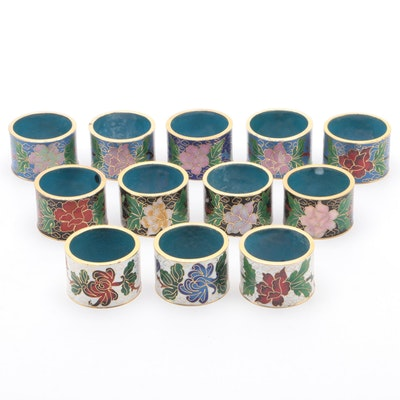 Chinese Cloisonné Napkin Rings