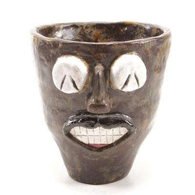 Handmade Face Jug Style Planter