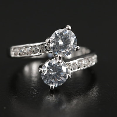 Cubic Zirconia Bypass Ring