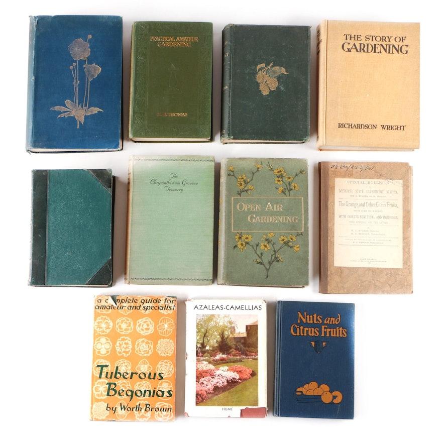 "Gardening Books Featuring ""Familiar Wild Flowers"" by F. Edward Flume"